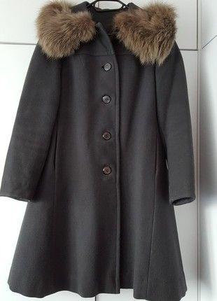 Kup mój przedmiot na #vintedpl http://www.vinted.pl/damska-odziez/plaszcze/12010089-piekny-welniany-plaszcz-z-futrzanym-kolnierzem