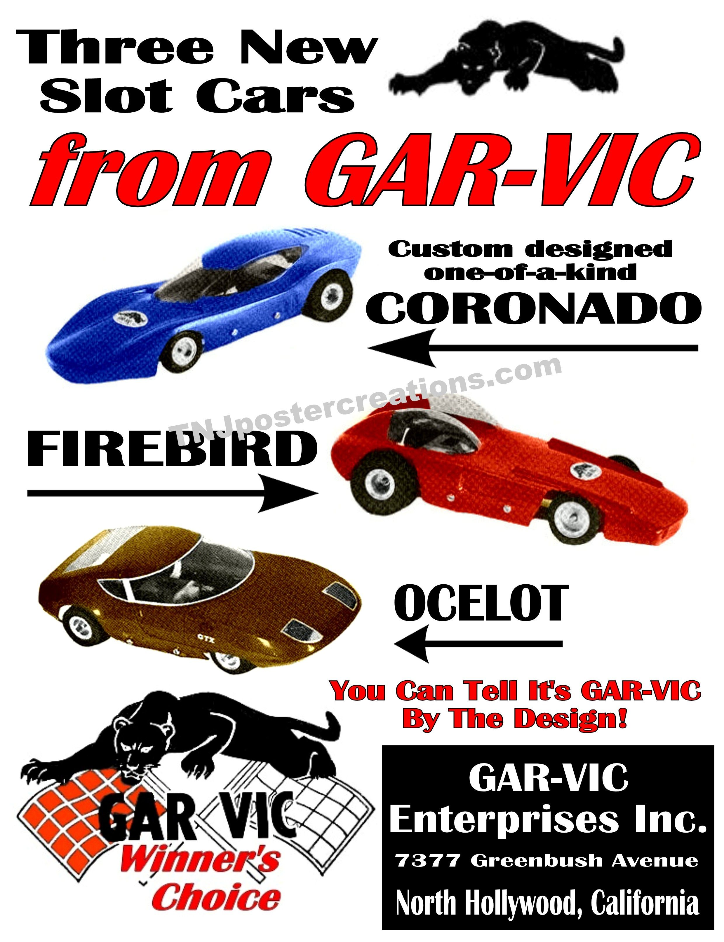 Gar-Vic slot cars from the 1960's  Courtesy of www