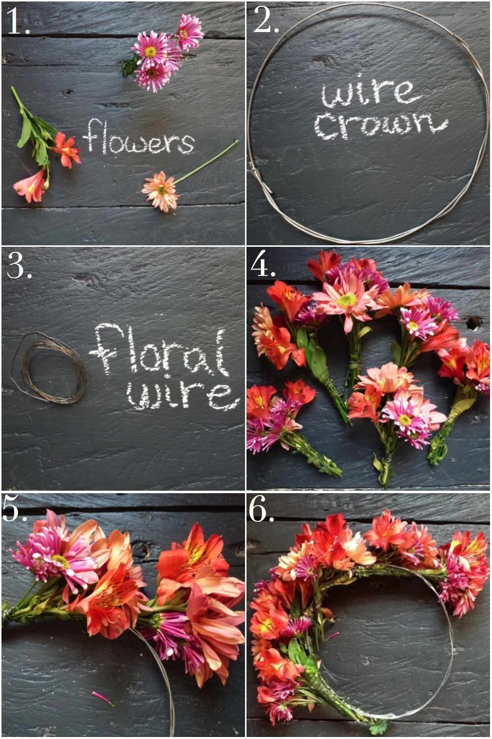 FlowerCrownDirections. Materials: Flowers Wire for crown (I used 1 ...