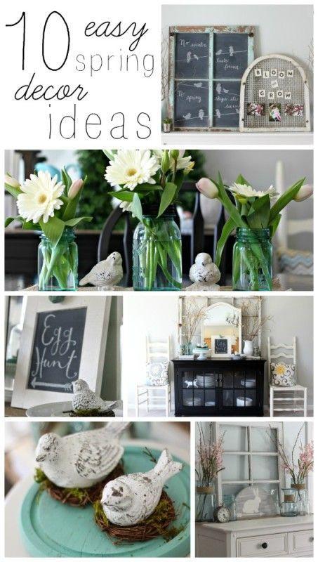10 easy spring decor ideas via house by hoff - Mantel Der Ideen Frhling Verziert