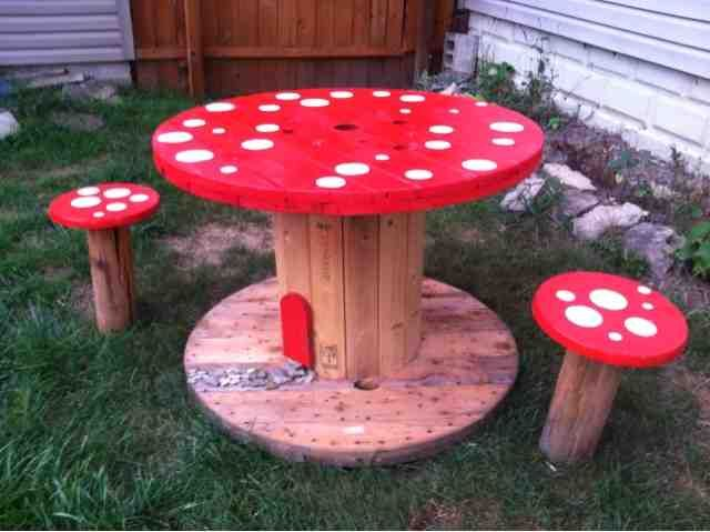 BargainFun Toadstool table and stools & Toadstool Table and Charirs from BargainFun. CUTE! | Susanu0027s ... islam-shia.org