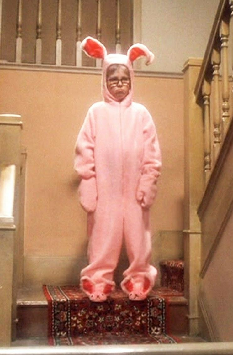 pink bunny christmas story costume cheap online