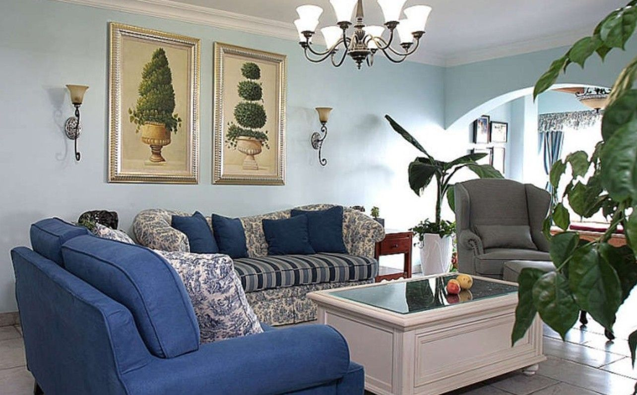 Best Light Blue Living Room Walls Living Room European Style 640 x 480