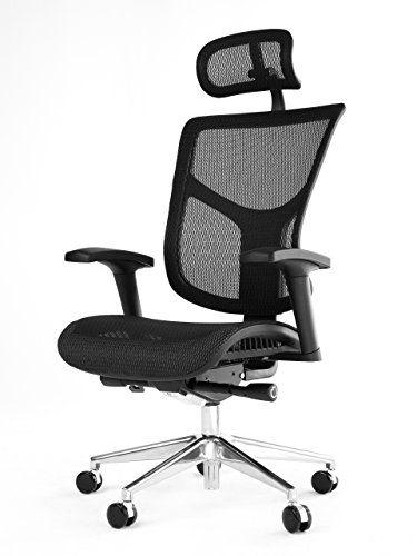 premium selection speical offer best service Office Factor Super Ergonomic Black Mesh Executive Office ...