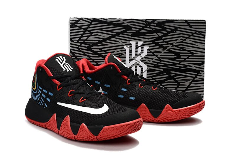 timeless design 64736 24a02 Authentique Newest Kyrie Irving 4 VI Bred Black Sport Red ...