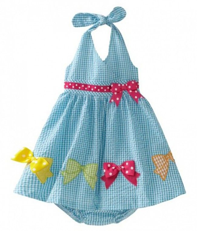 Bonnie Jean# M33162, 2-Piece Multi Bow Border Gingham Check http://www.bonniejeandresses.in/m33162.html
