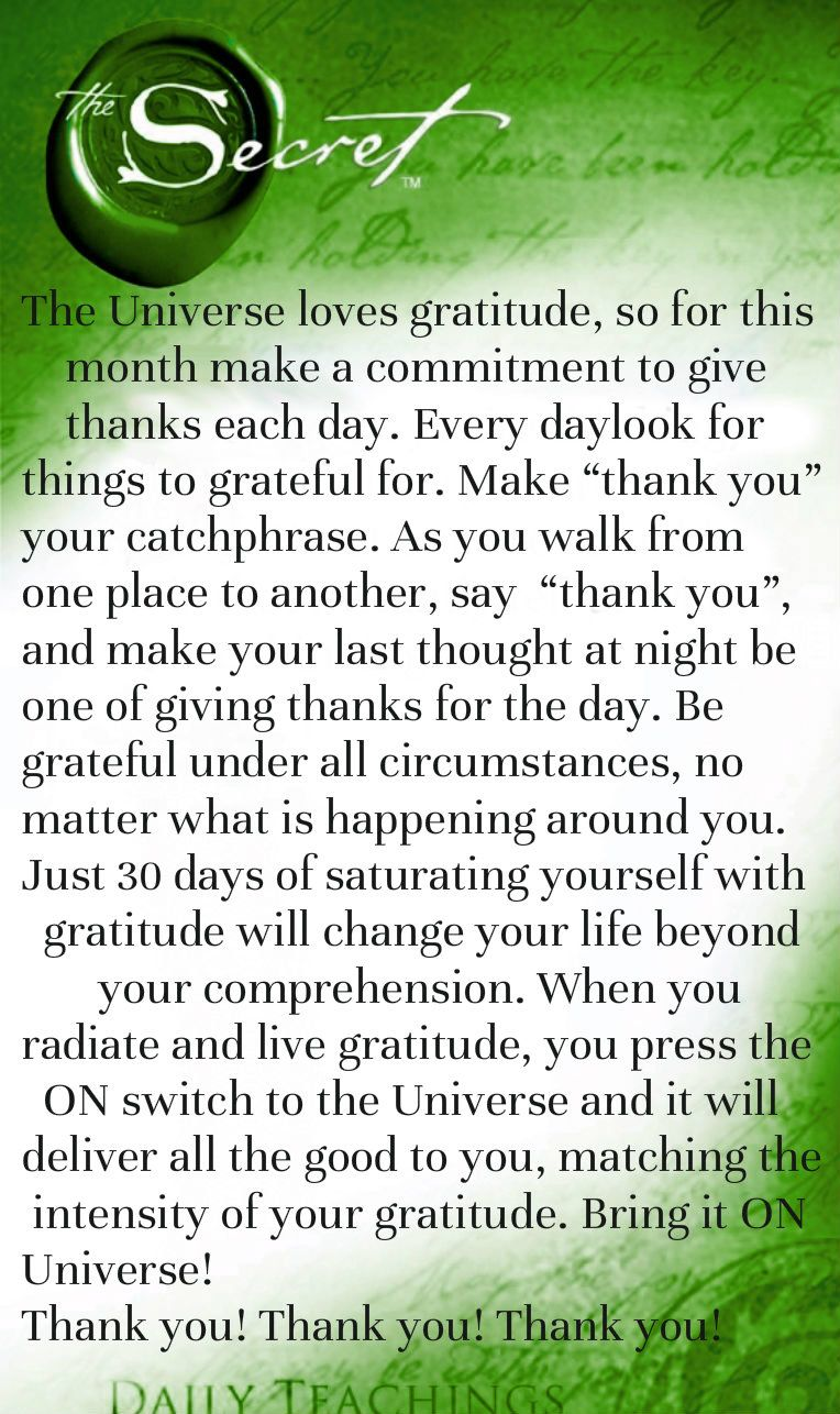 The Universe Loves Gratitude So For This Month Make A Commitment To Wiring Money Laws Give Thanks Each Day Every Look Things Grateful