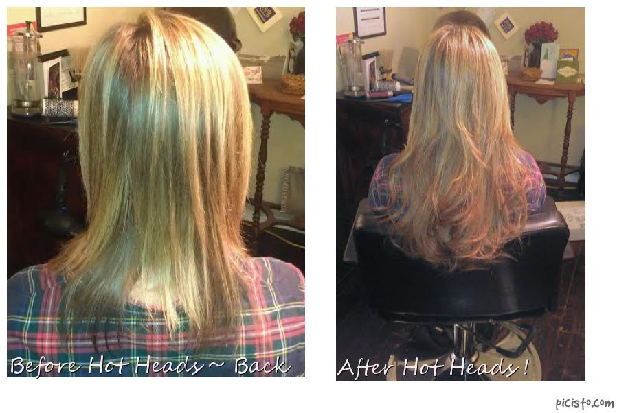 Hot Heads Hair Extensions Before And After Back Profile Sovay