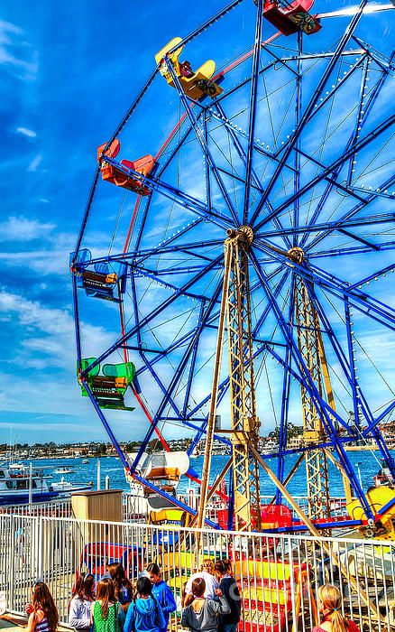 Ferris Wheel Balboa Fun Zone By Jim Carrell Newport Beach California Coast