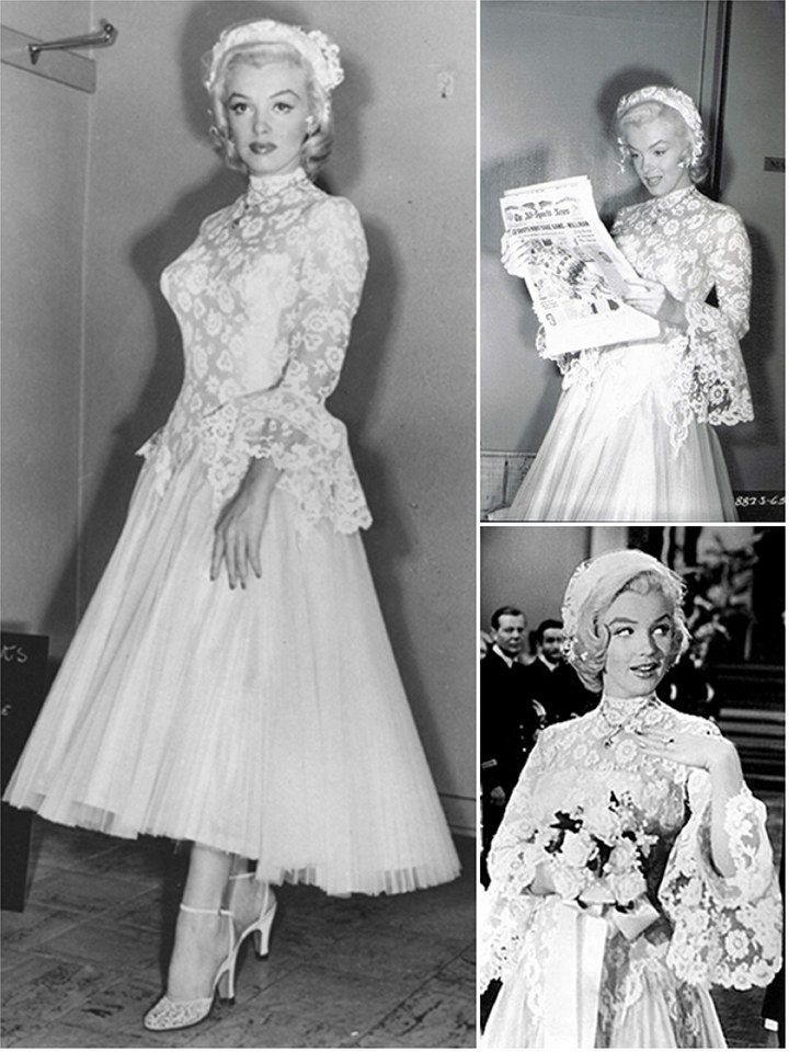 Iconic Wedding Dresses In Film Gentlemen Prefer Blondes The Final Scene Of 1953 Hit Marilyn Monroe Made Her