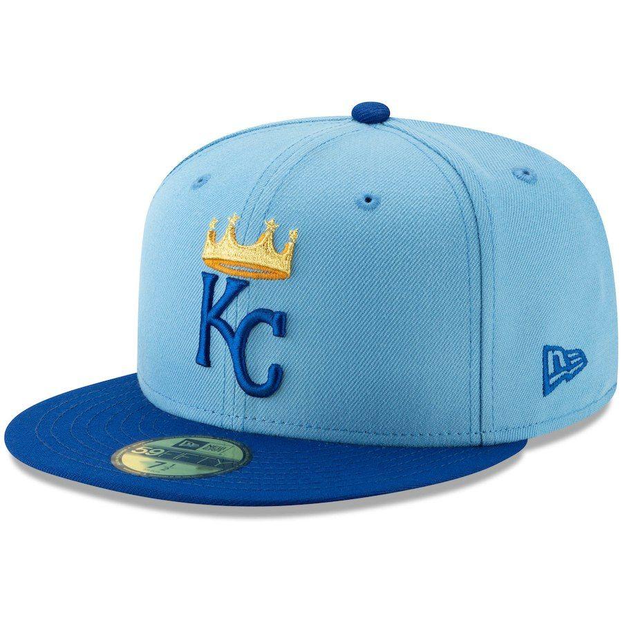 sports shoes a711c 30d05 Men s Kansas City Royals New Era Light Blue Alternate Logo 59FIFTY Fitted  Hat,  34.99