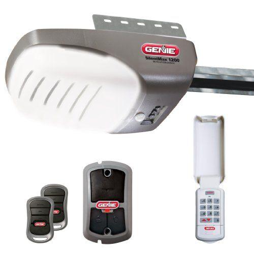 Genie 4042 Tkc Silentmax 1200 3 4 Hpc Dc Belt Garage Door Opener With 2 3 Button Remote Wall Console Wireless Keypad Motion Detector And Safe T Bea Best Garage Door Opener Best Garage Doors Garage