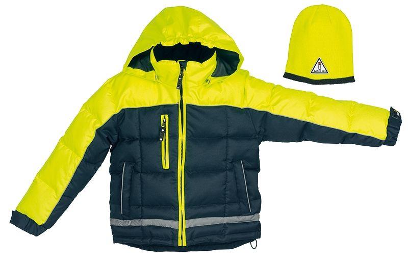 c67871876eb Til børnene: Fristads Kansas Watch me jakke med strikhue gul/mørkegrå (2-