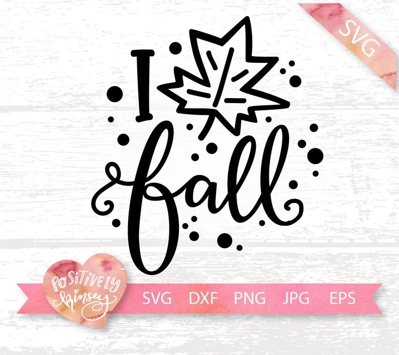 Download I Love Fall Svg, Fall Leaves Svg, Thanksgiving Svg, Fall ...