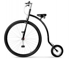 so apparently they've updated the penny farthing bicycle.  must have for costume to be complete!