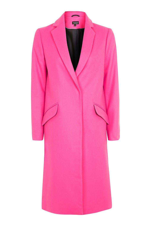 TALL Fluro Wool Coat - Jackets & Coats - Clothing