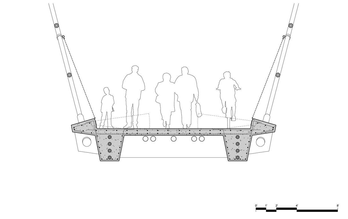 Pedestrian Bridge Cross Section