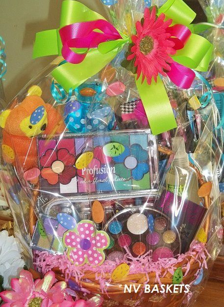 Cool chick easter gift basket tween girls ages ages 10 to 13 tween makeup easter basket negle Gallery