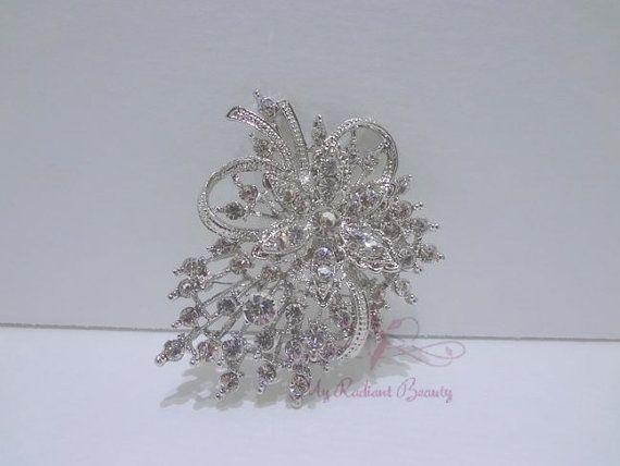 Bridal+Rhinestone+Crystal++Brooch+Pin+Bridal+by+MyRadiantBeauty,+$19.99