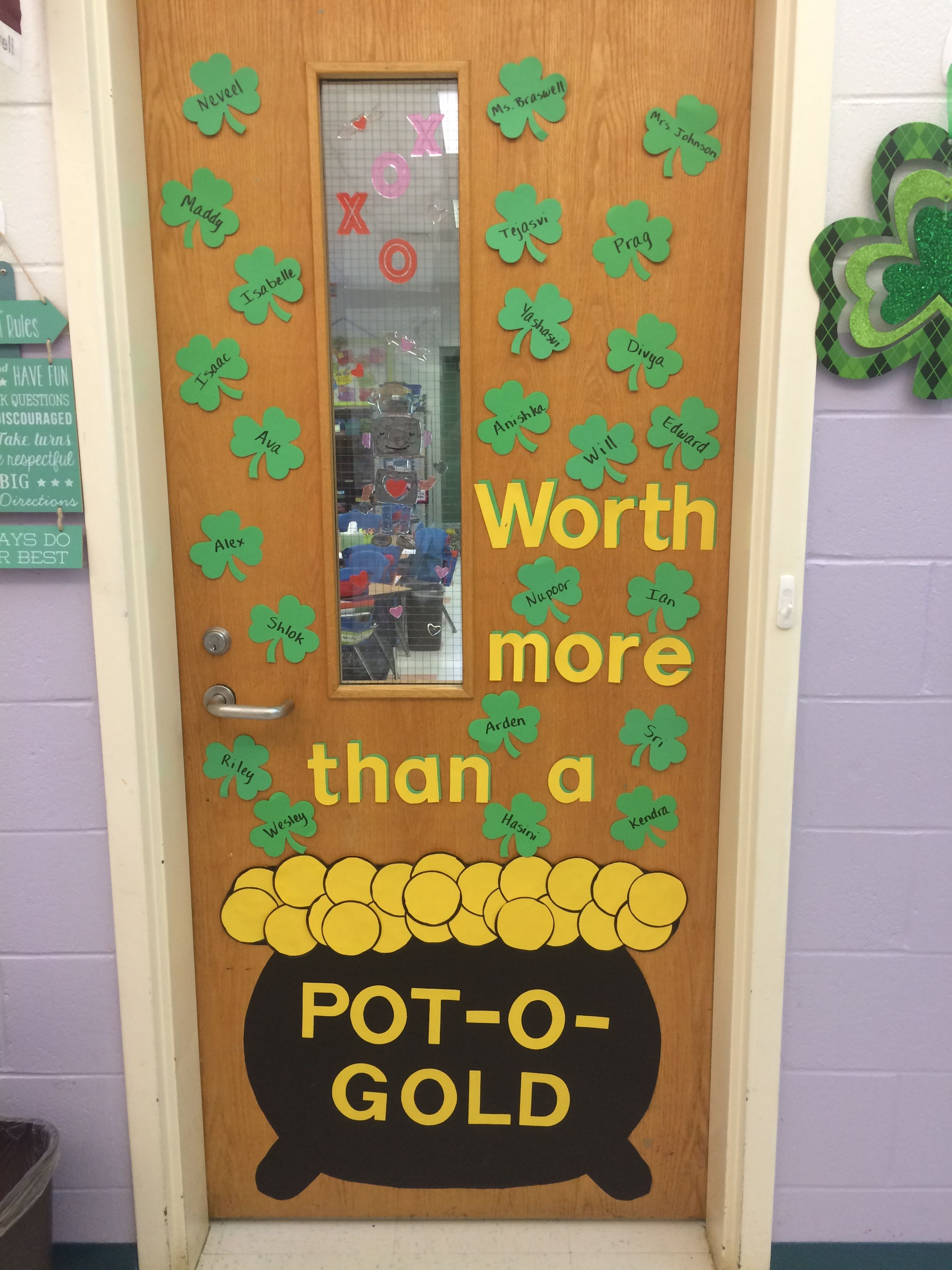 March St Patrick S Day Pot O Gold Classroom Door