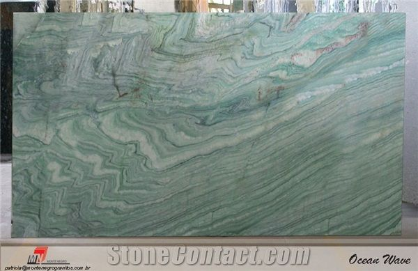 Ocean Wave Quartzite Slab Brazil Green Quartzite From United States Stonecontact Com Ocean Waves Kitchen Countertops Countertops