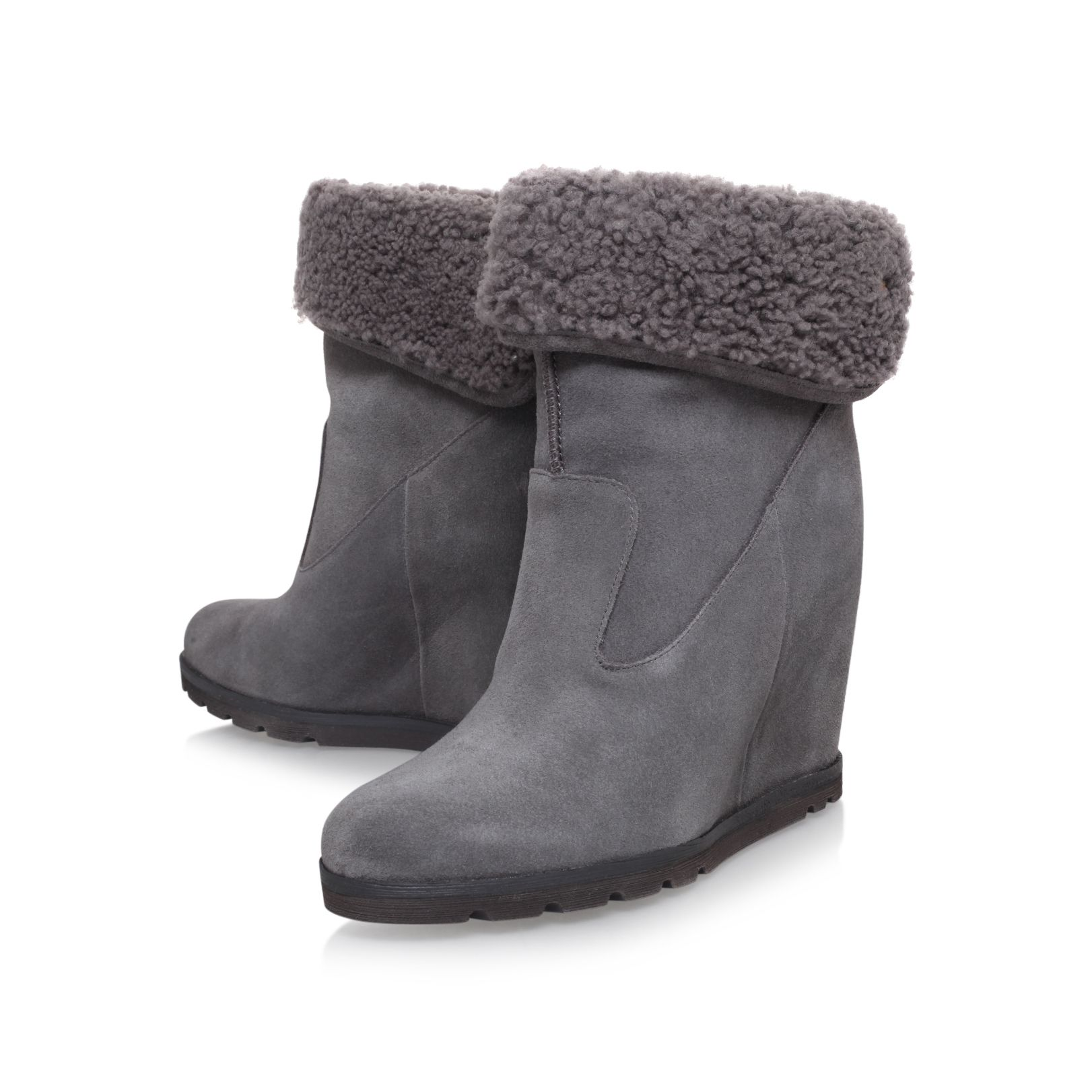 Boot Shoes Australia Ankle Kyra Grey Flat Suede Ugg By x7qH6 a7be4761f
