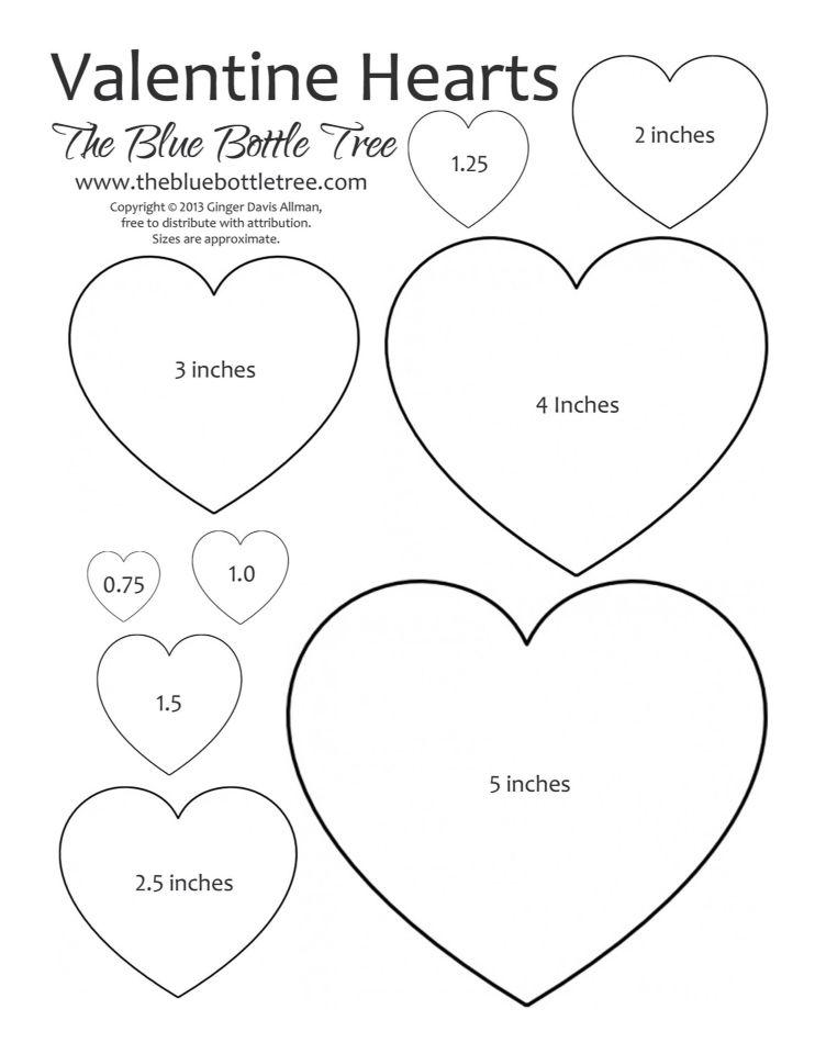 Herzen Vorlage | vorlagen | Pinterest | Schablone, Valentinstag und ...