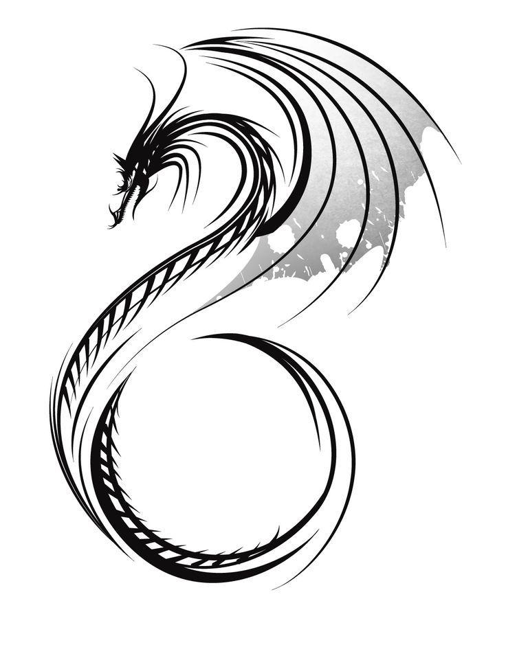 Tatuajes De Dragones Chinos Tribales Buscar Con Google Tatuajes