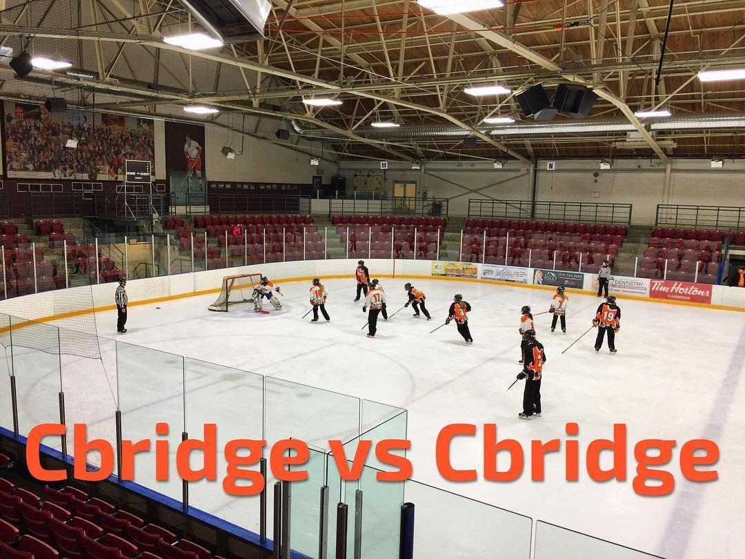 Cbridge vs Cbridge at the Cambridge Ringette Tournament