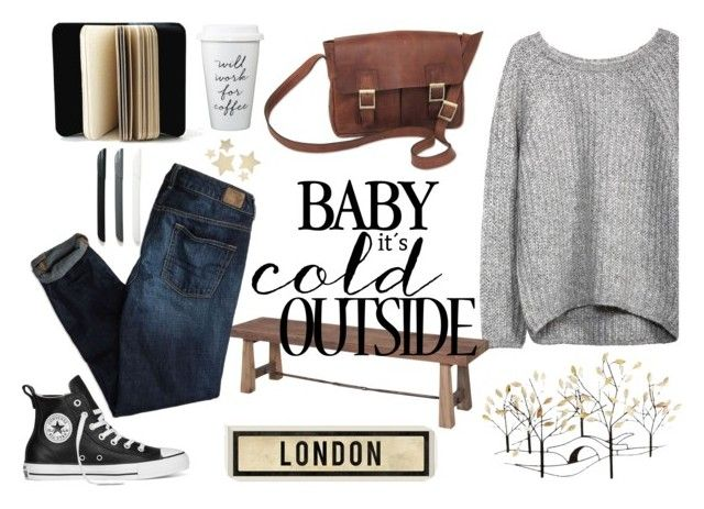 """London Style"" by tamo-kipshidze on Polyvore featuring American Eagle Outfitters, Bethany Lowe, Universal Lighting and Decor, NOVICA, Converse and Dot & Bo"