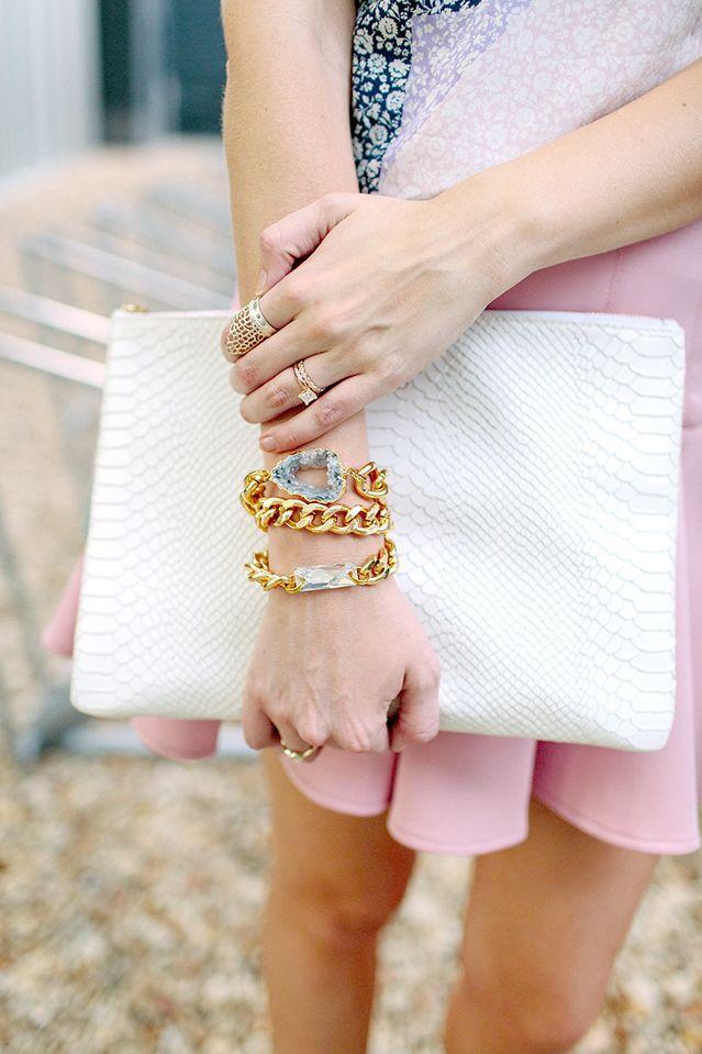 druzy wrap bracelet / detail shot
