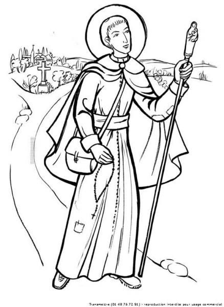 St. Francis of Assisi Coloring pages for Catholic Kids (com ... | 600x438