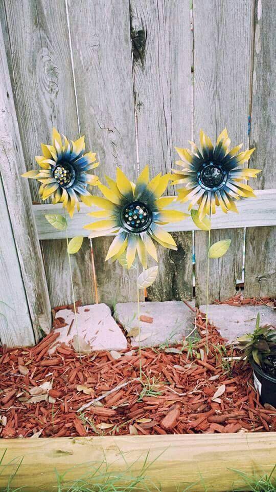 Sunflower Garden Stakes Yard Decoration By GardenDreamsDecor