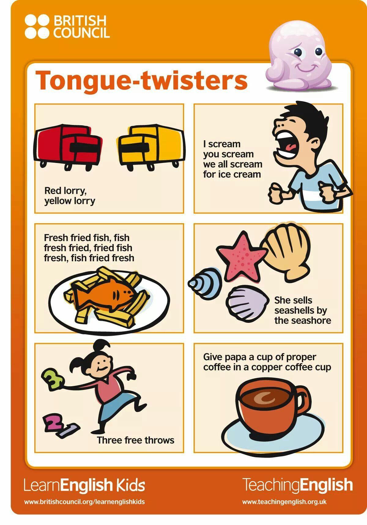 Pin By Alla Nichik On Tongue Twisters