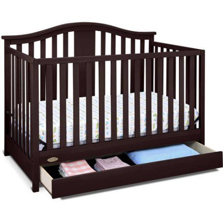 Graco Solano 4-in-1 Convertible Crib with Drawer, Choose Your Finish ...
