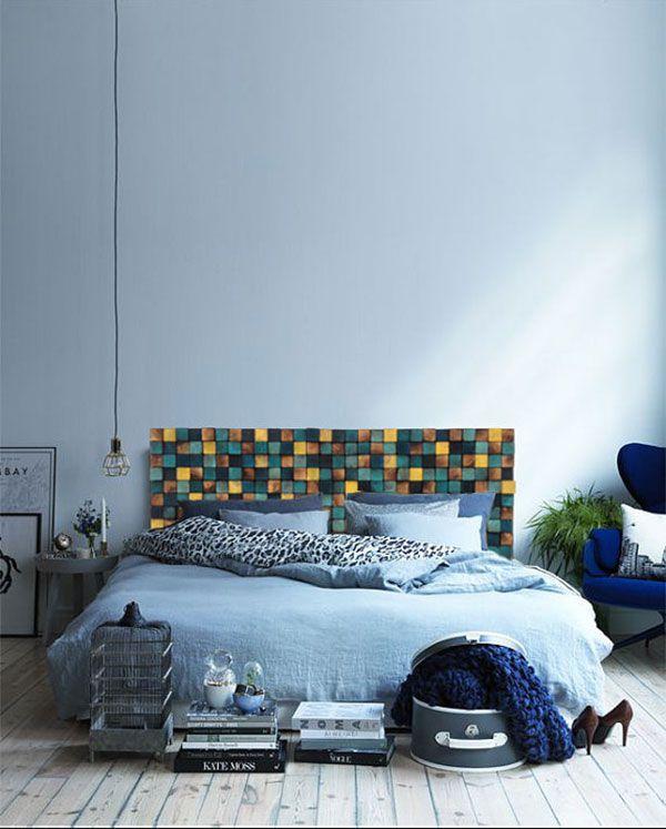 15 ideas para hacer un cabecero de cama con madera reciclada.