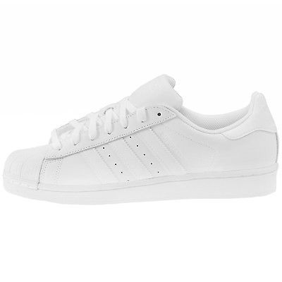 Adidas Superstar Foundation Mens B27136 White Leather Shell Toe Shoes Size  13