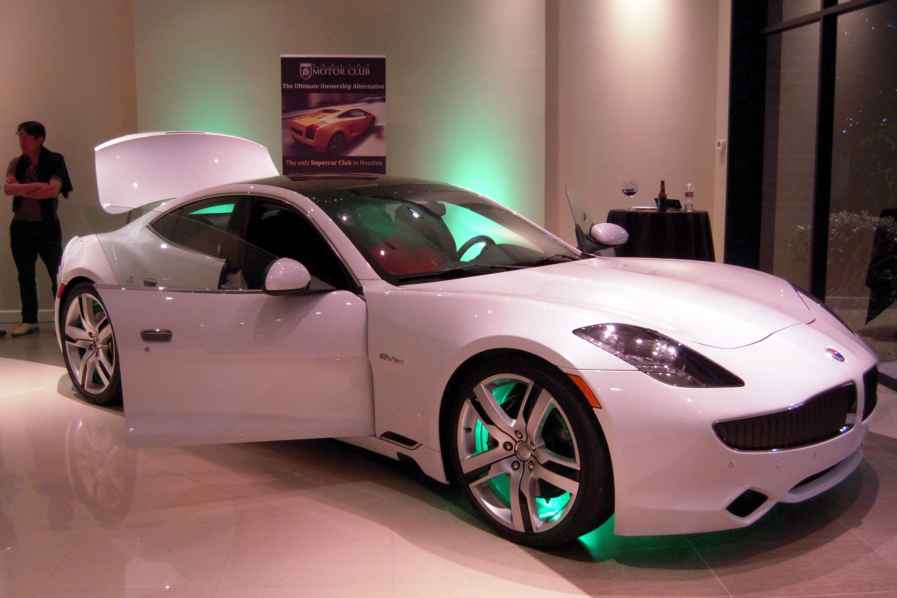 Fiskar Karma... another new car release in our stable of super cars!!  Electric car that makes virtually NO noise completely touch screen for most everything, innovative interior and smooth sailing!  I love it!