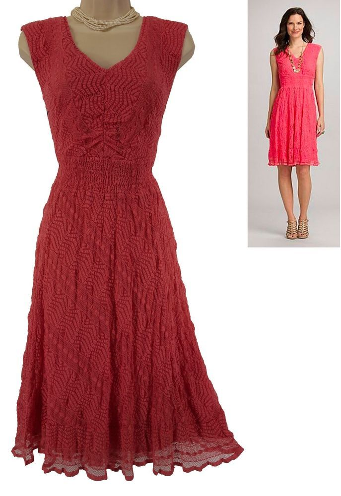 16w 1x Sexy Womens Gorgeous Coral Lace Dress Summer Wedding Party