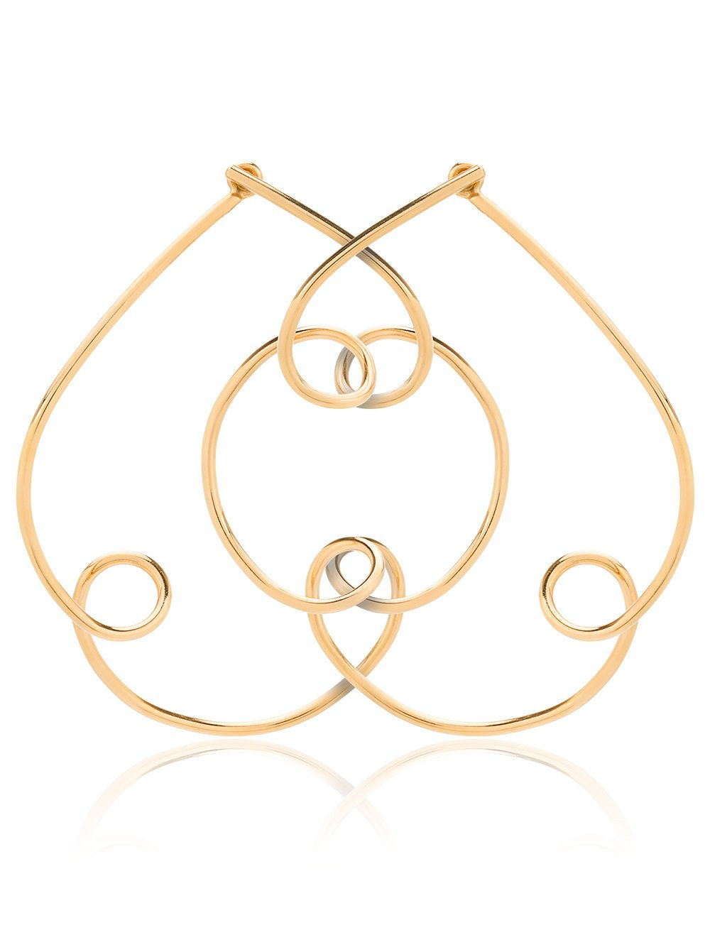 Holly Ryan 18k gold plated cloud earrings jUmiQ