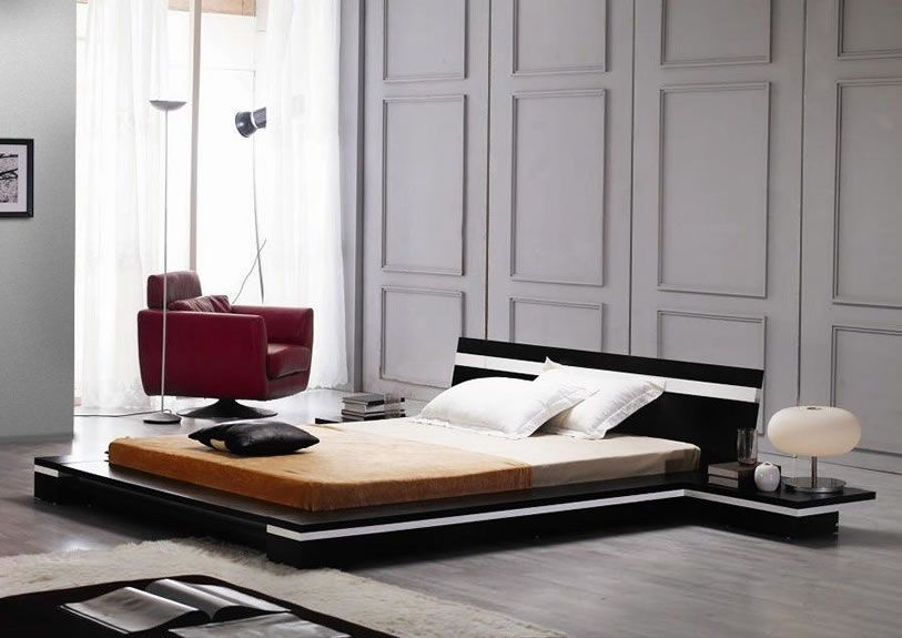 Sonata Modern Low Profile Bed