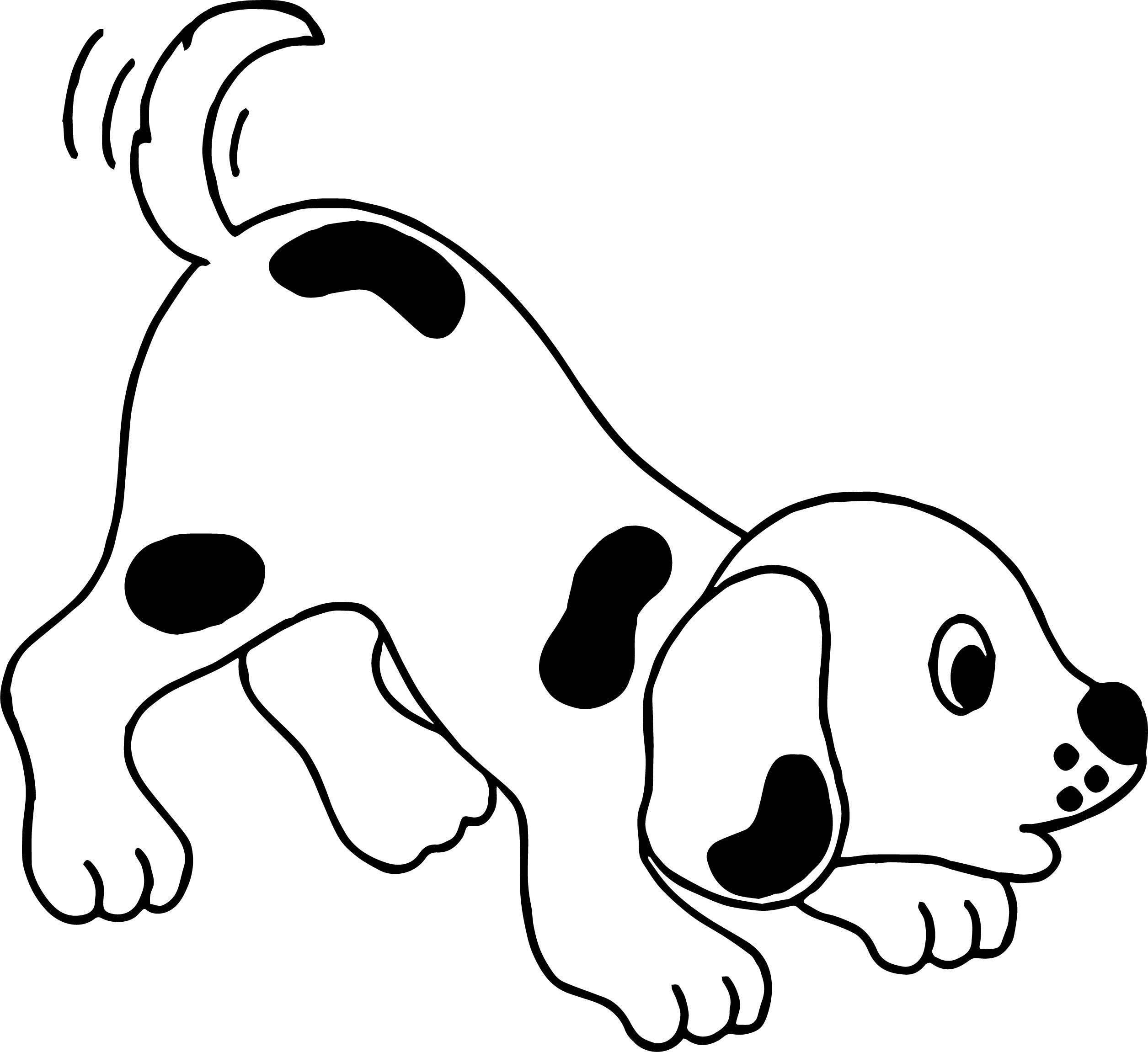 Crying Puppy Playful Cartoon Puppy Dog Coloring Page Https Cstu