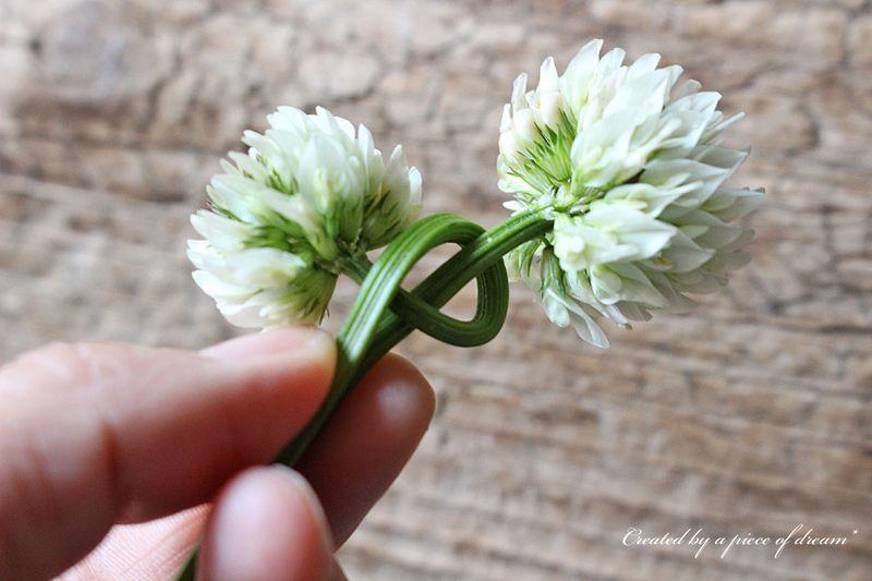 シロツメクサ 花冠 作り方
