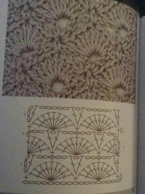 Schelp Patroon Haken Crochet Stitches Crochet Stitch