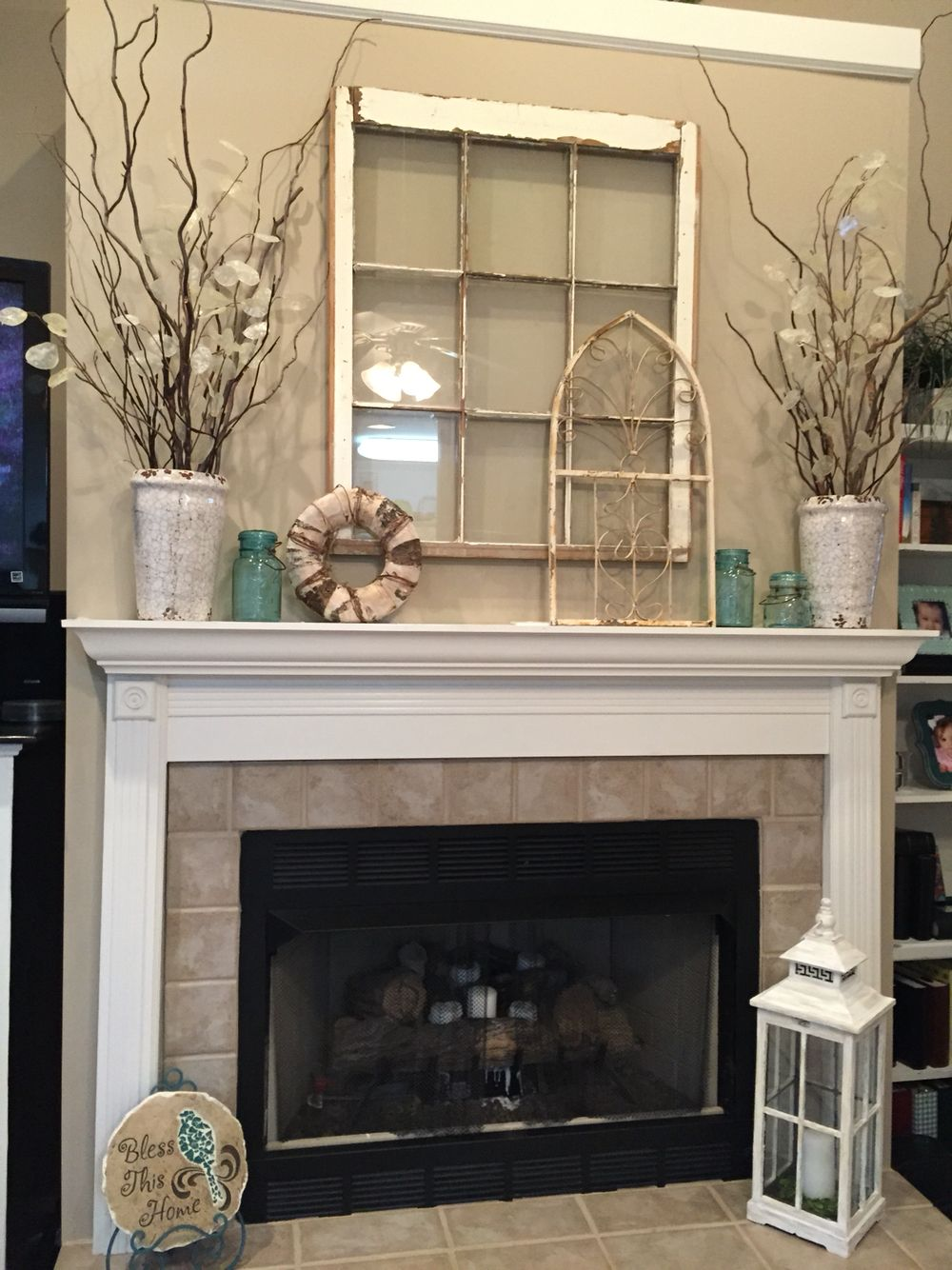Neutrals New house Decor Home Decor Fireplace mantels