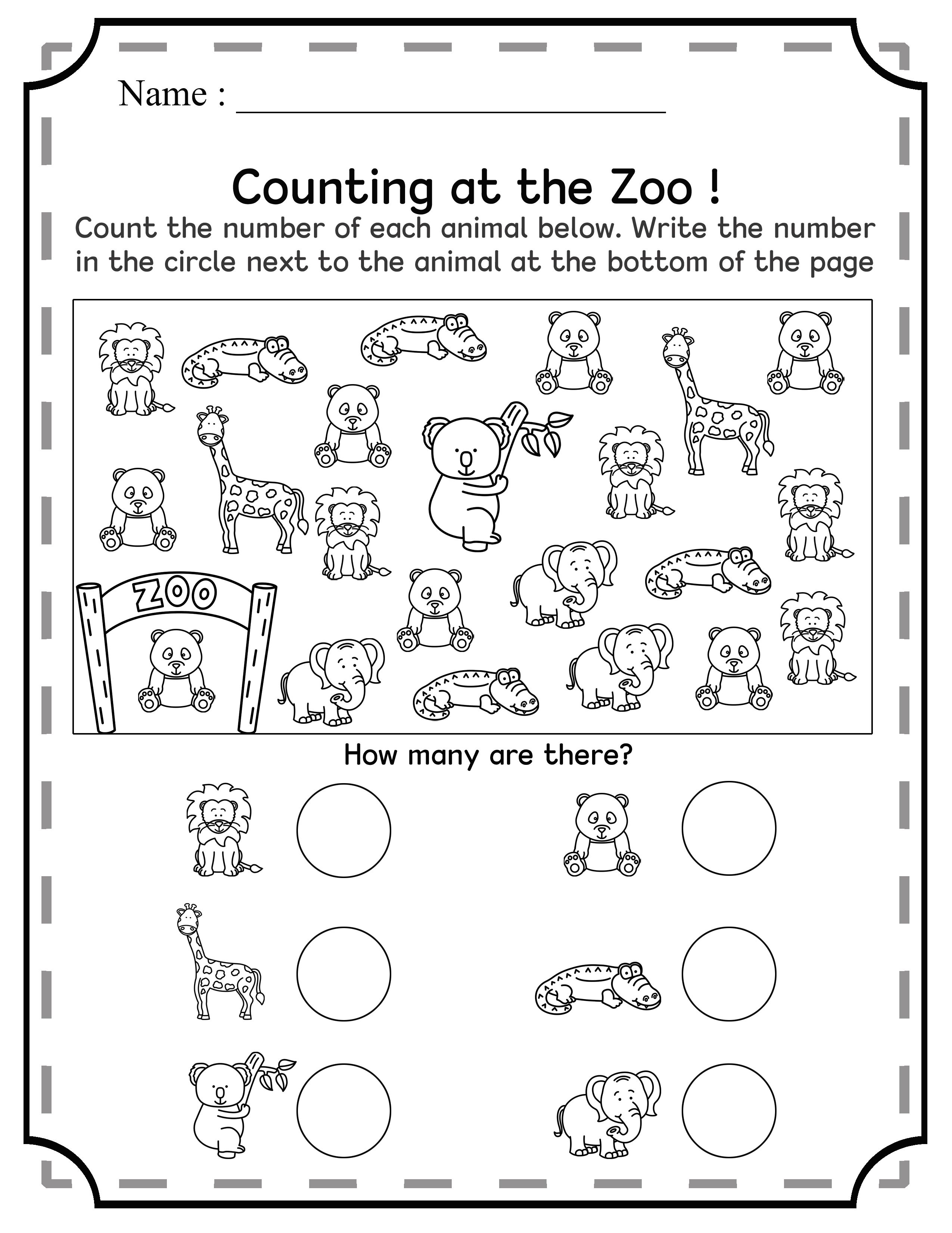 Numbers 1 10 For Kindergarten