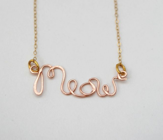 for you @Allie Christian: Meow Necklace
