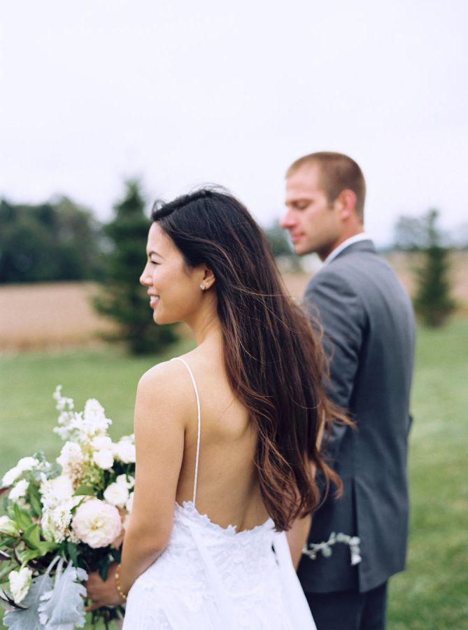 Long hair with a hint of waves: http://www.stylemepretty.com/indiana-weddings/laporte/2016/03/21/rustic-red-barn-experience-wedding/ | Photography: Lauren Balingit - http://laurenbalingit.com/