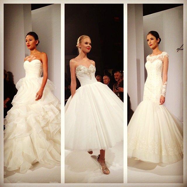 Stunning gowns at the @Dennis Basso for @kleinfeldbridal show #kleinfeldrunway #bridalfashionweek #Padgram