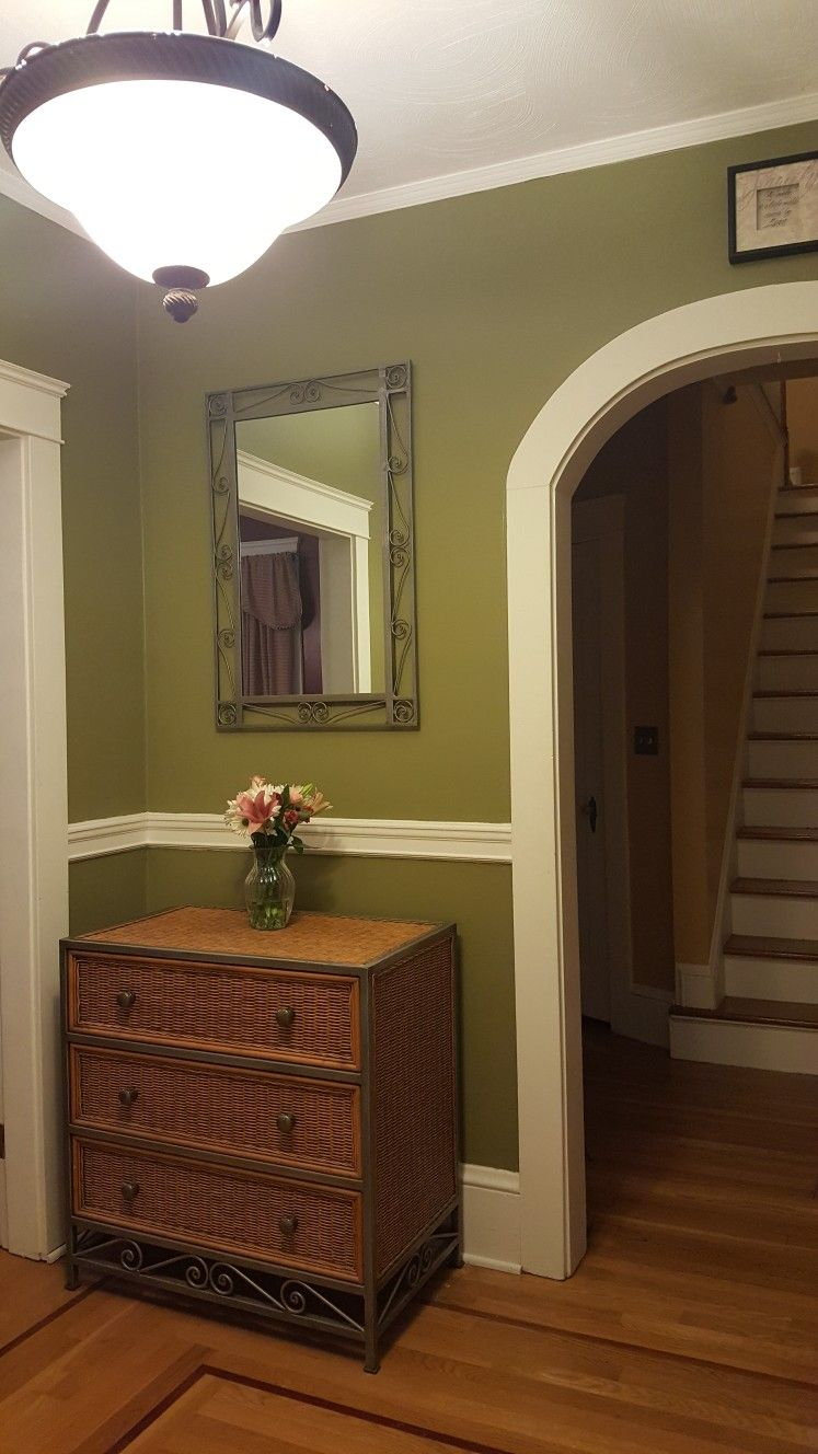 front foyer with chair rail with images  modern